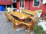 Esstisch Gartentisch mit 2 Eckbänken