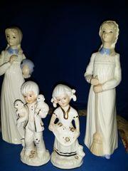 4 Porzellan Engel