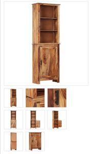 Highboard 60x30x180 cm Massivholz Sheesham