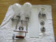 Badezimmergarnitur - Lampen Ablage Seifenschale Papierhalter