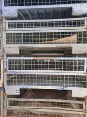 Gitterboxen halbe Metallboxen gebraucht Restbestand