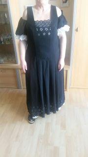 Langes schwarzes Kleid grösse 42