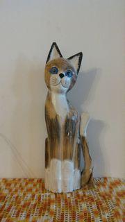 Deco Holz-Katze Mika