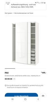Schiebetüren für PAX Kleiderschrank