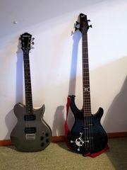 Gitarre Bass und Verstärker ideal