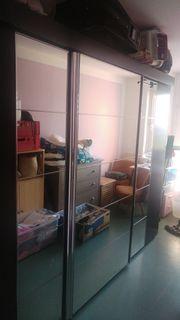Kleiderschrank Schiebe-Spiegeltüren 2 80x2 22x0
