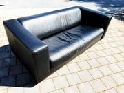 Sofa echt Leder schwarz gepflegt