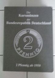 Alle 2 Pfennig Kursmünzen von