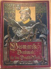 2x Bismarck Denkmal für das