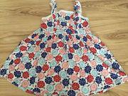 Mädchen Kleid Sommerkleid Pompoms Spitze