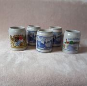 5 Bierkrüge