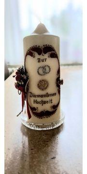 Kerze zur Diamant Hochzeit