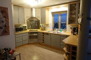 Einbauküche Grau Buche hell incl