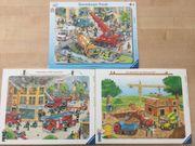 3 Ravensburger Rahmenpuzzle zu verkaufen