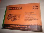 Betriebsanleitung für Holder A30 A45