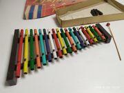 altes Xylophon Pipephone mit Originalkarton