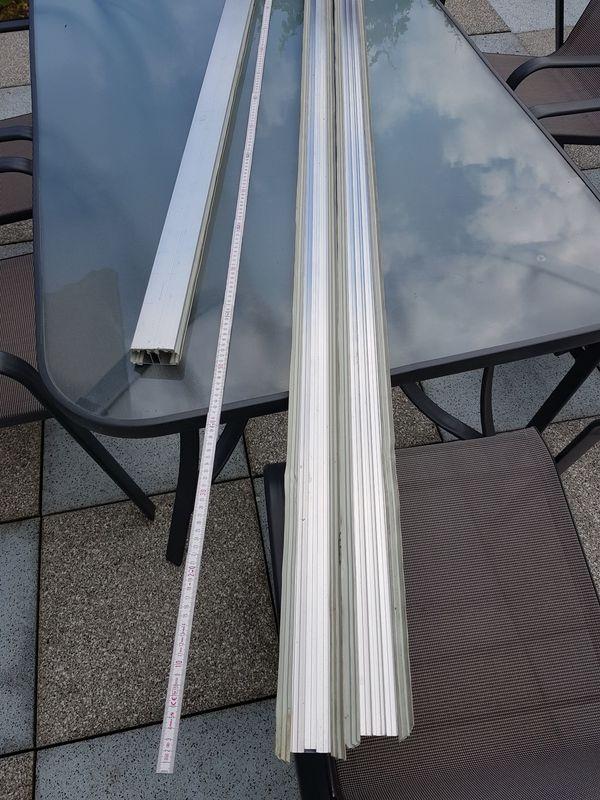 Doppelstegplatten Alu-Mittel-Komplettprofil für 16mm