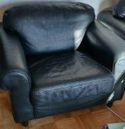 Schwarze Echtleder Sessel von Musterring