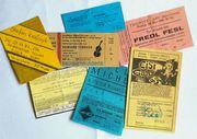 Alte Eintrittskarten von Konzerten aus