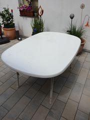 Gartentisch Terassen Tisch weiß