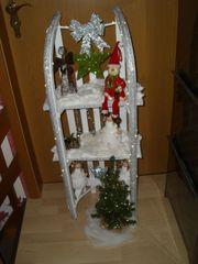 Weihnachtsdeko Holzschlitten Deko Schlitten