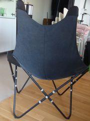 Butterfly Sessel grau schwarz ähnl