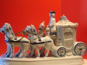 Porzellanfigur Kutsche 4 Spännig