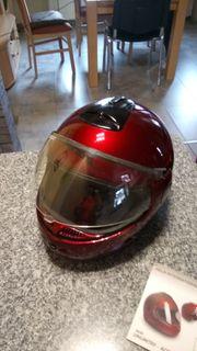 Motorrad oder Rollerhelm mit Zubehör