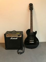 E-Gitarre und Verstärker perfekt für