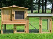 NEU Außenstall Kleintierstall Nagerstall Holz