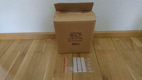 Nylonsäckchen wiederverschließbar 8x12cm