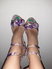 biete getragene high heels an
