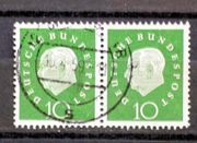 Briefmarken BRD 1959 Heuss 10