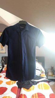Kurzarmhemd dunkelblau