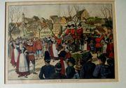 Holzstich um 1880 1900 Liederfest
