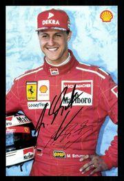 Große Michael Schumacher Autogrammkarte mit