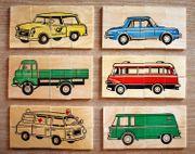 DDR Holzpuzzle Legespiel - 6 verschiedene