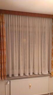 Gardinen in weiß 3 Fenster