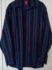 Hemd Gr 39 40 blau-schwarz