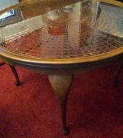 Chippendale-Tisch rund Original in Nussbaum