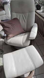 Stressless-Sessel mit Fussbank Leder