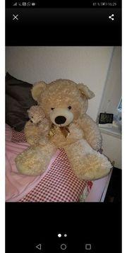 Teddybär mit Baby XXL
