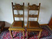 2 antike gepolsterte Stühle mit