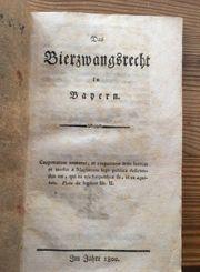 Das Bierzwangsrecht in Bayern