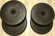 Gewichtsscheiben von Trainhard 2x15kg 2x10