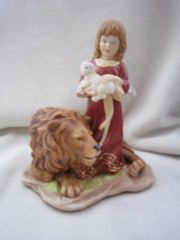 Engel Paradies mit Löwe Lamm