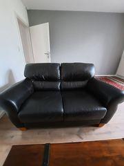 2er Echtleder Sofa