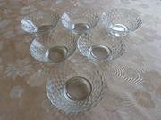 Vintage- Haushaltsartikel-Glaswaren 6 kleine Schalen