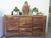 Kommode Sideboard aus Sheesham-Holz