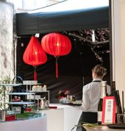 Chinesische Lampion Laterne aus Bambus